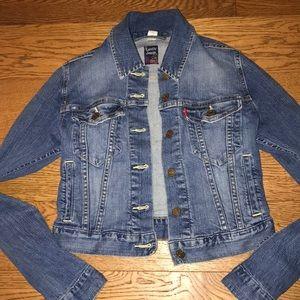 Women's Levi's Jean Crop Jacket size small